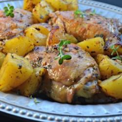 greek lemon chicken and potatoes printer friendly