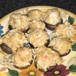 cajun crab stuffed mushrooms photos
