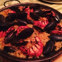 Saffron-Scented Lobster Paella