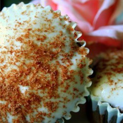 Dark Chocolate Cupcakes with Whipped Cream Frosting