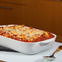 Easy Cheese-Topped Meatball Casserole