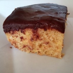 Easy Boston Cream Poke Cake