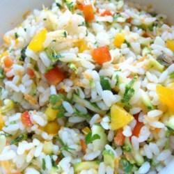 mediterranean rice salad with vegetables printer friendly