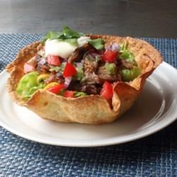 Crispy Basket Burritos (Baked Tortilla Bowls)