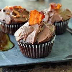 Dark Chocolate Bacon Cupcakes Recipe