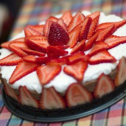 strawberry chocolate mousse cake recipe an eggless chocolate mousse is poured into a cookie crumb