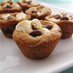 mores Campfire Cookies - made in a mini muffin pan photo by Dianne ...