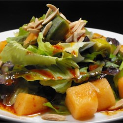 Avocado and Cantaloupe Salad with Creamy French Dressing Recipe