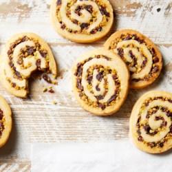 Cranberry-Pistachio Spirals