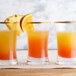 Pineapple Sunrise Mimosas