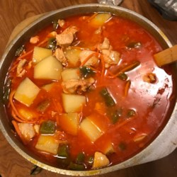 Filipino recipes allrecipes chicken afritada filipino stew recipe made with a whole chicken tomatoes forumfinder Gallery