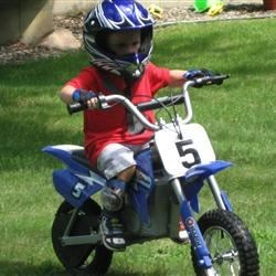 E's new dirt bike