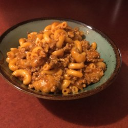 Mild 'Sweet' Tomato Sauce with Elbow Macaroni Bake