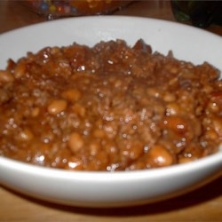 Slow Cooker Bean Casserole AKA Sweet Chili Recipe