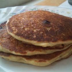 Oatmeal and Wheat Flour Blueberry Pancakes