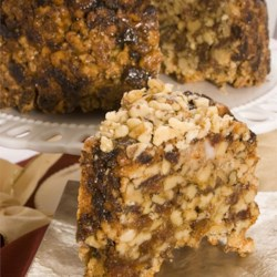 English Walnut Date Cake Recipe