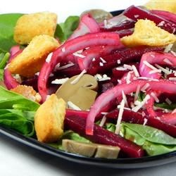 Photo of Nicole's Balsamic Beet and Fresh Spinach Salad by Nicole Evans