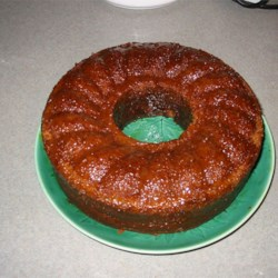 Pumpkin Gingerbread in a cake pan