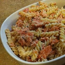Cheesy Pasta Alfredo with Salmon Recipe