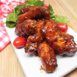 slow cooker honey barbeque ranch wings printer friendly