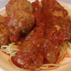 Jansen's Spaghetti Sauce and Meatballs Recipe