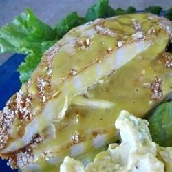 Honey Mustard Chicken with Pretzel Crust