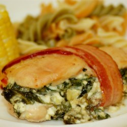 Stuffed Chicken Breast With Feta Cheese And Bacon