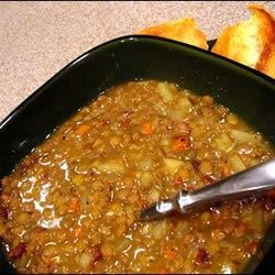 Beer and Maple Lentil Stew