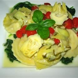 Image of Artichokes In A Garlic And Olive Oil Sauce, AllRecipes