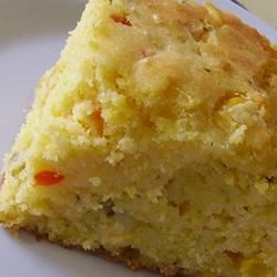 Basil, Roasted Peppers and Monterey Jack Cornbread Recipe