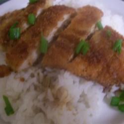 ashley's chicken katsu w/tonkatsu sauce
