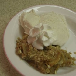 Easy Apple Crisp with Honey