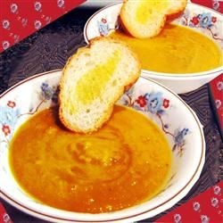 Spicy Pumpkin and Sweet Potato Soup Recipe