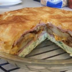 Brunch Omelet Torte Recipe