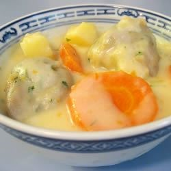 Creamy Vegetable Chowder with Dumplings