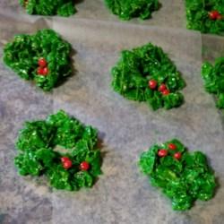 Christmas Cornflake Wreath Cookies Recipe Photos Allrecipes Com