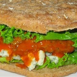 Buffalo Blue Cheese Chicken Burgers Recipe