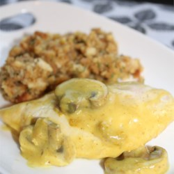 Sour Cream Chicken and Stuffing Recipe