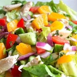 Peach Chicken Salad