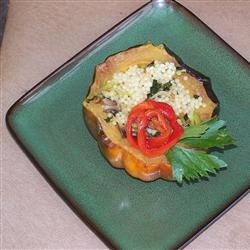 Photo of Vegan Acorn Squash Stuffed with Israeli Couscous by Sharone