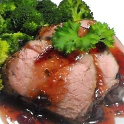 Quick Savory Cranberry Glazed Pork Loin Roast |