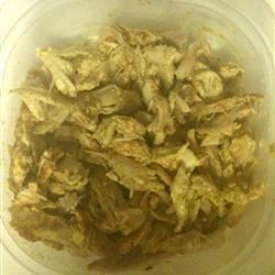 shredded chicken with spicy mustard & cayenne