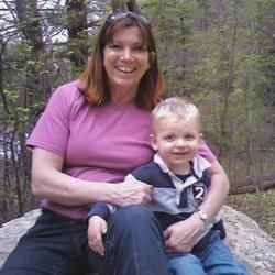 My Grandson Lucas and I on a hike.