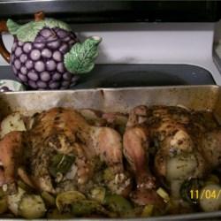 Cornish Hen Stuffed with Winter Squash