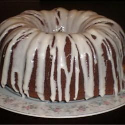 Pumpkin Gingerbread cake with Rum Cream Cheese Glaze