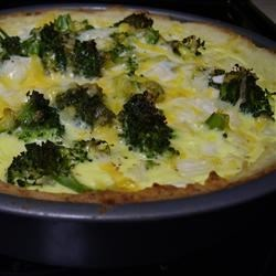 Broccoli Quiche with Mashed Potato Crust