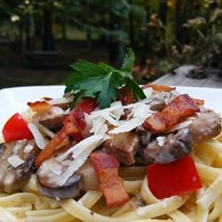 Penne with Pancetta and Mushrooms Recipe