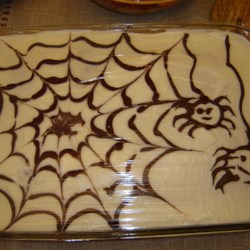 halloween spider pumpkin sheet cake