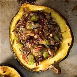 Wild Rice Stuffed Acorn Squash  Recipe