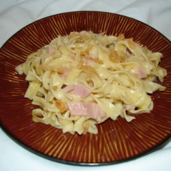 Easy Ham and Noodles Recipe